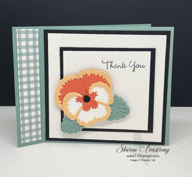 Pansy petals greeting cards made with dies and die cuts.