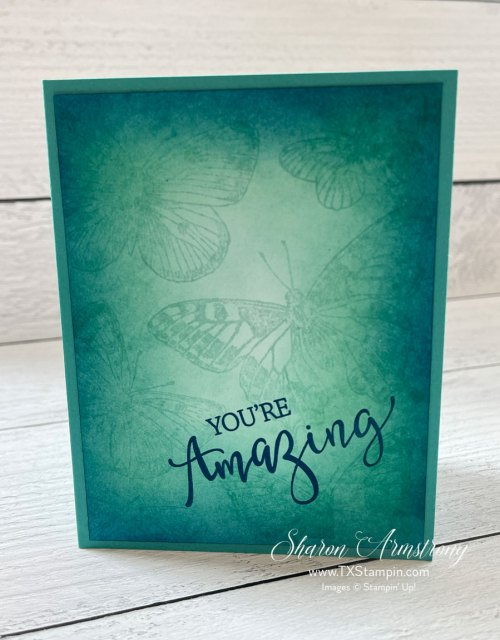 The Stampin' Up! blending brushes are easy to use and high quality.