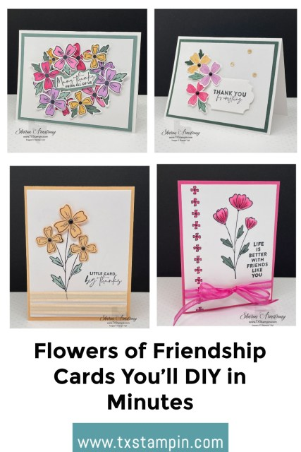 DIY these 'Flowers of Friendship' cards in minutes.