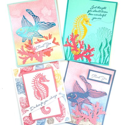 Ready To Feel Happy? Make These Lovely Ocean Theme Greeting Cards