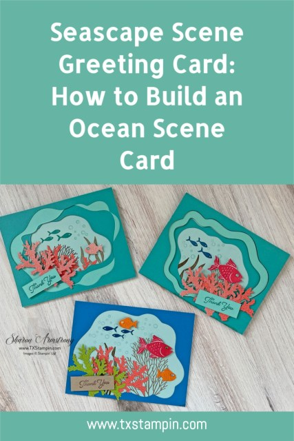 Save these card designs to your favorite Pinterest board so you'll always remember how to make your seascape scene cards.