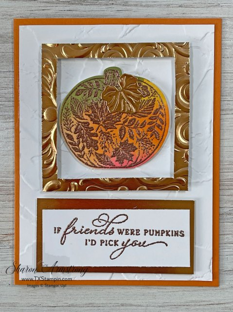 you can also color your stamped images and then use copper embossing powder on top