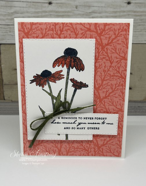Learn how to make thank you cards with this easy card layout.