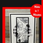 Stunning Black & White Card You Can DIY Today