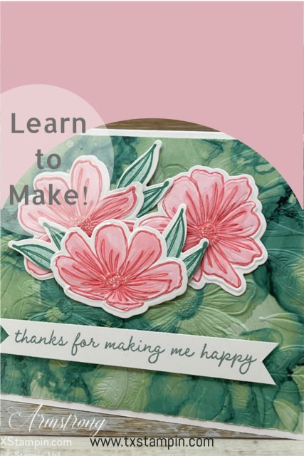 Save this Stampin' Up! Art in Bloom card to your favorite board!