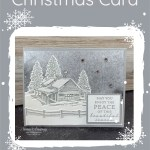 Snow Scene Christmas Cards to Make Easily
