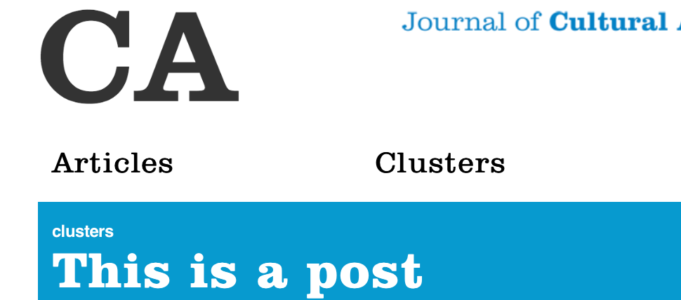 Announcing CA: Journal of Cultural Analytics