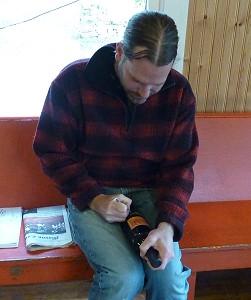 Sandstone - Scott signing bottle