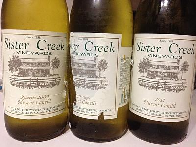 Sister Creek Muscat Cannellis