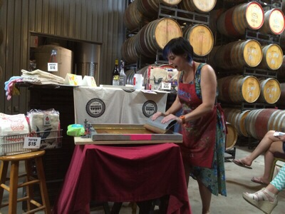 Printing with Pinot Noir