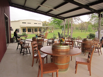 Whistling Duck Winery - patio