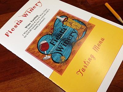 Fiesta Winery - tasting menu