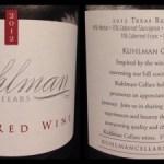 Review of Kuhlman Cellars Texas Red 2012