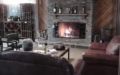 Carmela Winery - fireplace