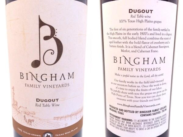 Dugout bottle labels