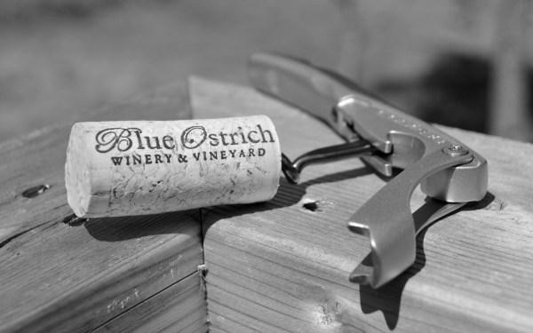 Blue Ostrich Blanc du Bois cork
