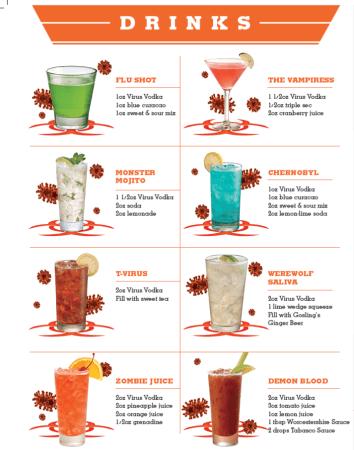Virus Vodka drinks