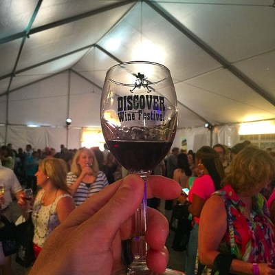Discover Wine Festival glass/crowd