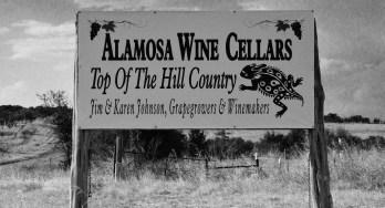 Alamosa Wine Cellars sign