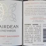 Review of Cairdean Vineyards Cabernet Sauvignon 2012