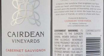 Cairdean Cabernet Sauvignon labels