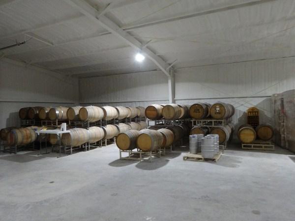 Driftwood Estate Winery barrel room