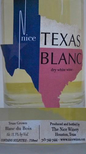 Nice Winery Blanc label