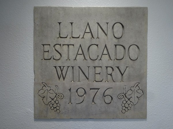 Llano Estacado Winery plaque