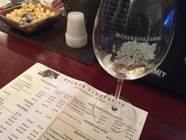 Becker Vineyards tasting