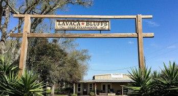 Lavaca Bluffs sign