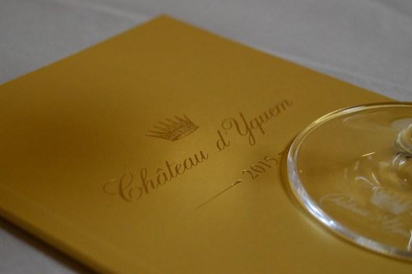 Château d'Yquem menu