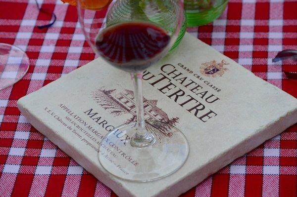 Wine at Chateau Du Tertre