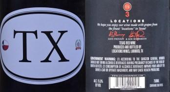 TX locations label