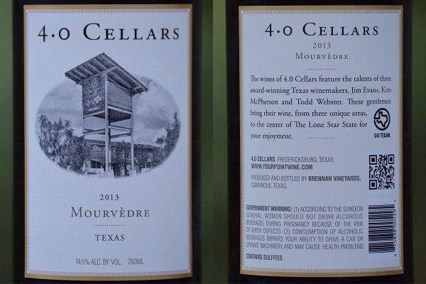 Texas wine label