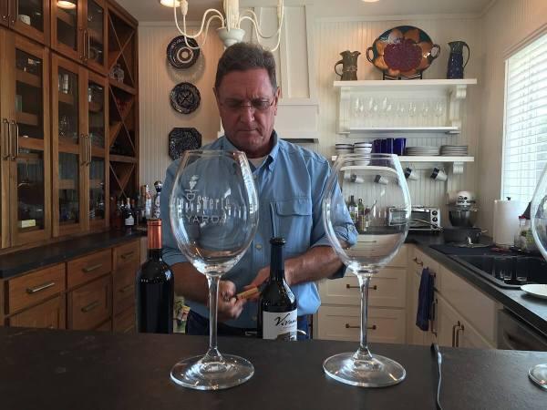 Bill Day and wine