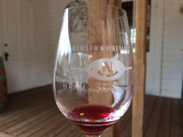 Newsom Vineyards at Comfort glass