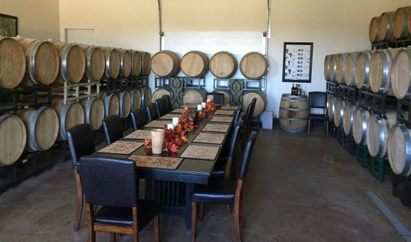 San Martiño Winery barrel room