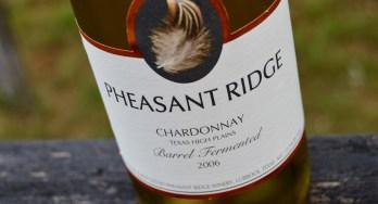 Pheasant Ridge Winery Chardonnay bottle