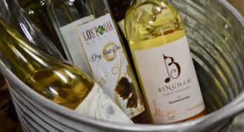 Wines in tub