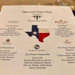 Texas Fine Wine Dinner Tapas and Texas Wine