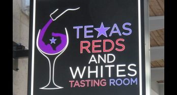 Texas Reds and Whites Sign - featured