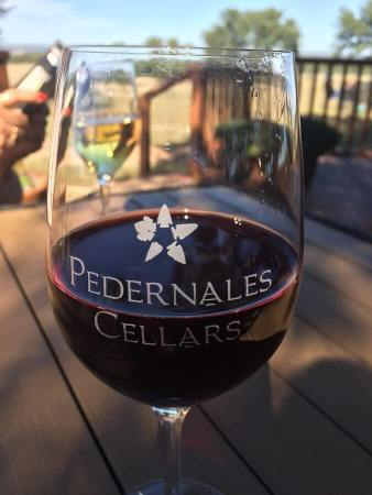 Pednernales wine on the patio