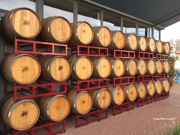 Becker Vineyards Main Street barrels