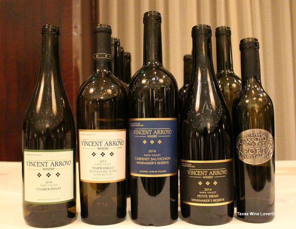 Vincent Arroyo Houston wines