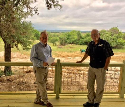 Billy Johnson and Bill Kreitz on the deck