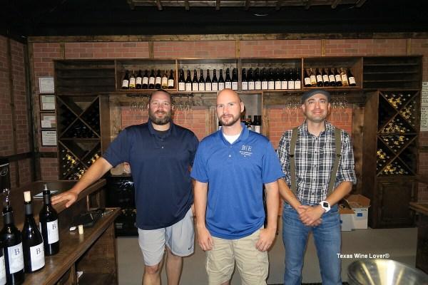 L-R: Chris Dowell, James Barber, James Solomon