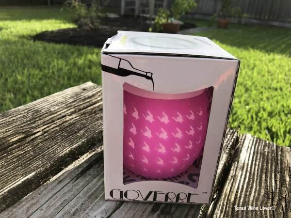 Goverre wine glass in the box
