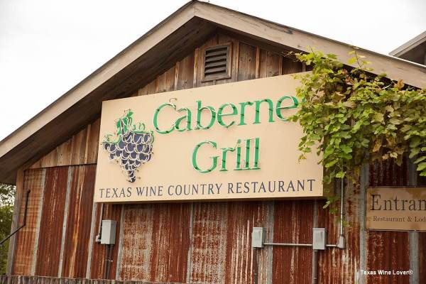 Cabernet Grill sign in daylight