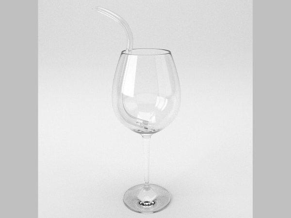 D'Vine Wine Straw glass