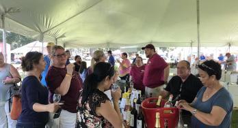 Texas Wine Festival in tent